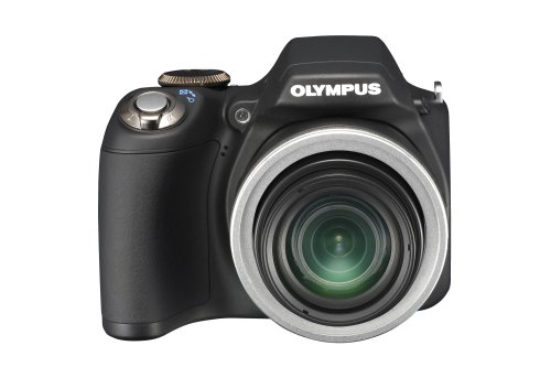 Olympus SP-590UZ 12MP Digital Camera with 26X Wide Angle Optical Dual Image Stabilized Zoom and 2.7 inch LCD