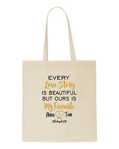 Story Date Shopper Ours Love Wedding But Every Gift Beautiful Personalised Party Names My Bag Beige Favourite Engagement And Is Tote vRwx5Uq