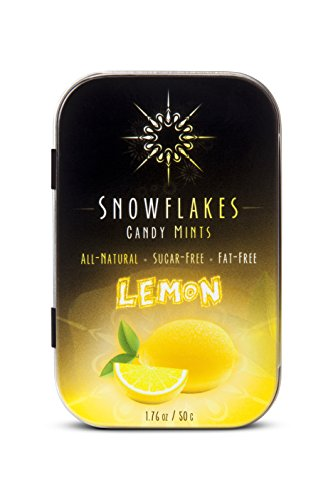 (Lemon Xylitol Candy Chips - Snowflakes 50g Tin - Handcrafted with ONLY 2 Ingredients | Diabetic-friendly, Non-GMO, Vegan, GF & Kosher | Purest sugar-free candy in the)