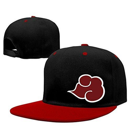 Fashion Naruto Shippuden Symbol Hip Hop Hat Baseball Cap Red