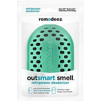 remodeez Refrigerator Deodorizer. Natural Coconut Activated Charcoal. Odor Eliminator, Odor Absorber