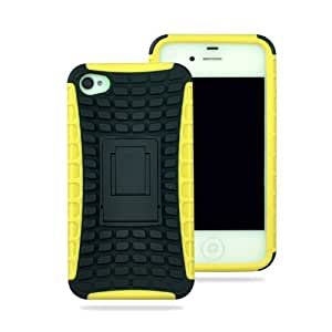 iphone 4s cases amazon lliveer yellow black iphone 4 4s snap on 3943