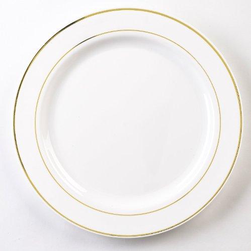 - EMI Yoshi Koyal Glimmerware Salad Plates, 7.5-Inch, White and Gold, Set of 120