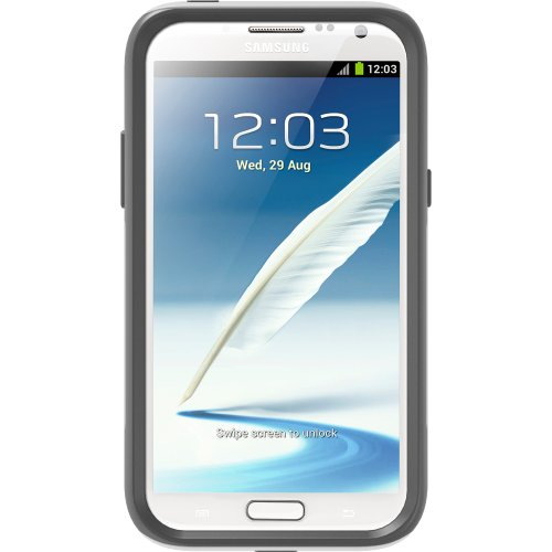 OtterBox Commuter Series Case for Samsung Galaxy Note 2 - White/Gray (Note 2 Case Best)