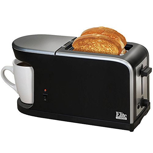 Elite Cuisine ECT-819 MaxiMatic 2-in-1 Dual Function Breakfast Station Toaster and Coffee by Elite Cuisine (Toaster Oven Toast Combo compare prices)