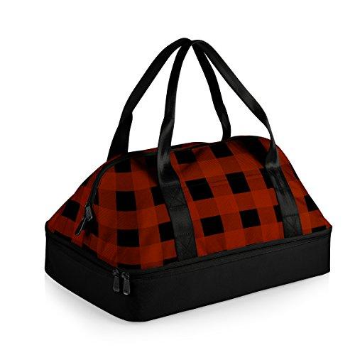 Casserole Color - ONIVA - a Picnic Time Brand Potluck Insulated Casserole Tote, Black/Red Buffalo Plaid