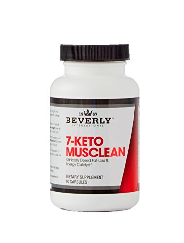 Beverly International 7-Keto MuscLean 90 Capsules. Exclusive Natural Energizing Weight-Loss aid. Lose up to Double The Body Fat Without Losing Muscle.