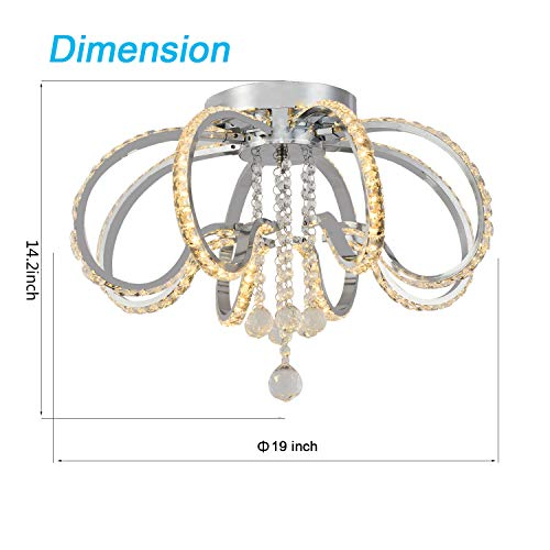 meet a7a60 a21f5 Semi Chandelier Lighting Crystal Ceiling Lights LED Close to ...