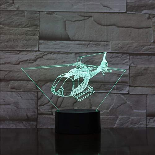 (HIOJDWA Night Light USB 3D Led Night Light Md-500 530 Series Civil Helicopter Model Fighter Decorative Lights Warplane Plane Table Lamp Bedside)
