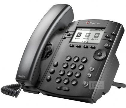 VVX 300 6-line Desktop Phone with HD Voice & VQMon - PoE without Power Supply (Line Voip Desktop Phone)