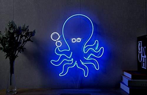 Pulpo Mar Océano Zoo Neon Wire Neon Cartel lámpara de neón ...