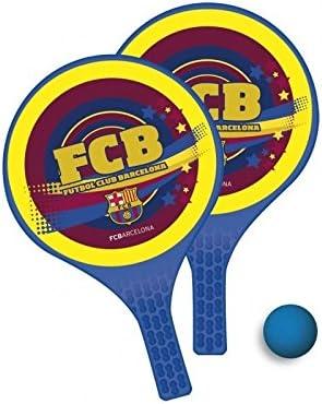 FC Barcelona – Juego de raquetas con pelota blanda para playa FC ...