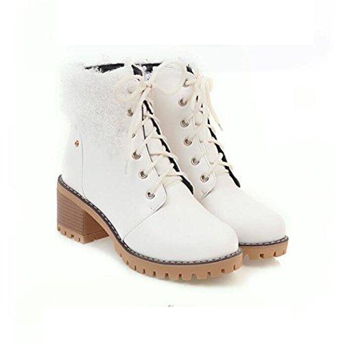 College white botas gran atadura impermeable con otoño botas e redonda de Taiwán invierno ZQ Cabeza QX de número Martin cortas silvestre viento grueso qBPaCAw