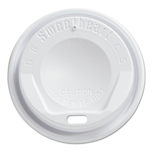 Solo Foodservice LGX8R1-0007 Polystyrene Hot/Cold Drink Lid, White (Pack of 1000)