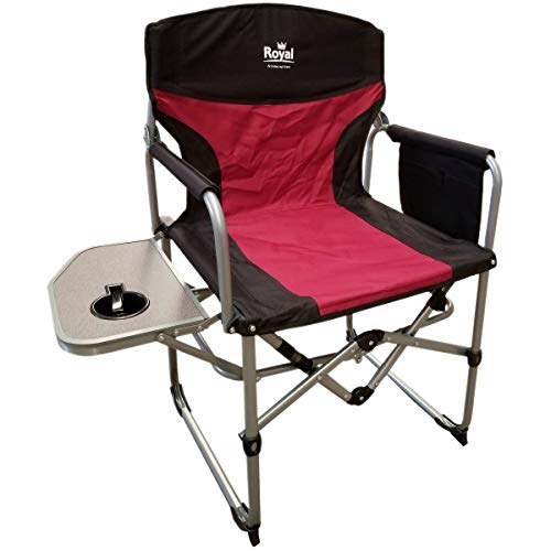 Royal Compact Folding Directors Chair with Table (Burgundy/Black) 355400