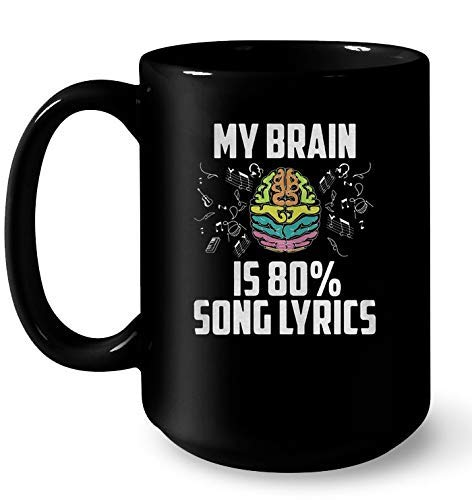 My Brain Is 80% Song Lyrics Black Version SINOVAL Gift