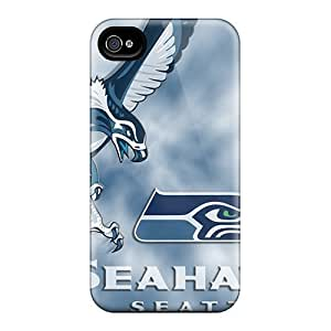 New YiR8180ZpXX Seattle Seahawks Skin Cases Covers Shatterproof Cases For Iphone 4/4s
