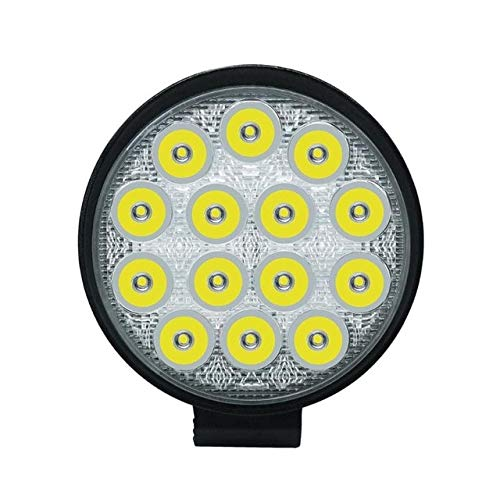 Daphot-Store - 42W Round Car LED Work Light 4200LM 6000K Waterproof LED Flood Light Lamp Bar For 12V Offroad Truck Trailer SUV ATV Boat
