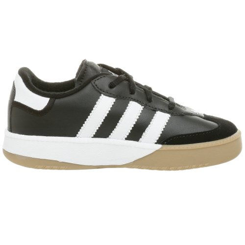 adidas Performance Samba M I Leather Indoor Soccer Shoe (Infant/Toddler),Black/White,8 M US Toddler