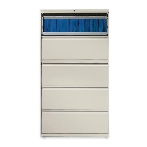 Lorell 5-Drawer Lateral File, 36 by 18-5/8 by 67-11/16-Inch, Gray