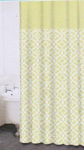Waverly Lovely Lattice Citron, Waverly Fabric Shower Curtain (Lovely Lattice Shower Curtain)