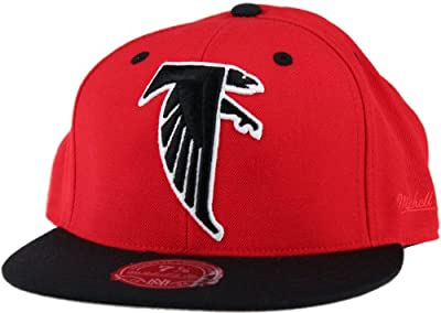Atlanta Falcons NFL Mitchell and Ness, 2-TONE XL Logo Fitted Hat, TU19, Red