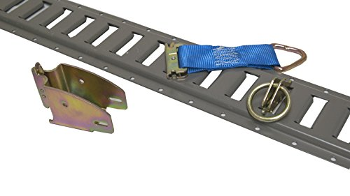 6 Pieces of Painted Grey E-Track with Tie Downs for Interior Trailers