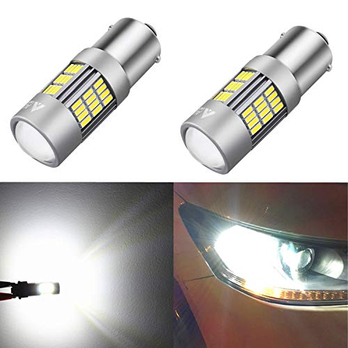 Alla Lighting Super Bright 1156 7506 BA15S Newest Version 4014 54-SMD 6000K Xenon White LED Lights Bulbs for Auto Back-Up Reverse Lights Lamp Replacement ...