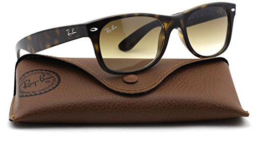 Ray-Ban RB2132 New Wayfarer Gradient Unisex Sunglasses (Light Havana Frame / Brown Gradient Lens 710/51, - Wayfarer Ban 710 Ray Rb2132
