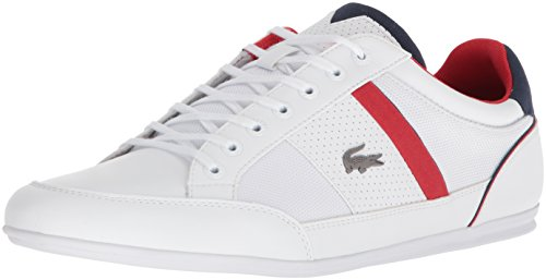Lacoste Men's Chaymon Sneaker, White, 10 M US