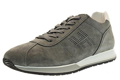 HOGAN Hombre zapatillas de deporte H321 baja HXM3210Y140FKF375C GRIS