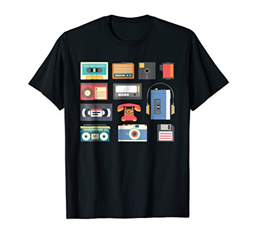 Retro 1990s technology - games gadget electronics Tshirt