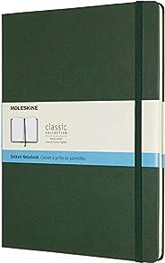 Moleskine Caderno clássico, capa dura, GG (19 x 24 cm) pontilhado, verde murto, 192 páginas