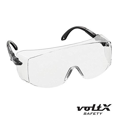 voltX 'Overspecs' Über-Schutzbrille (farblos) - tragbar über Ihre normale Brille - antibeschlag und kratzfest