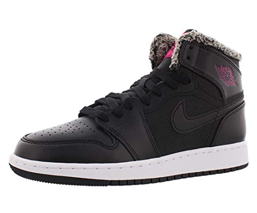 best service 2f436 1d8d5 Jordan Air 1 Retro High GG Big Kids Shoes Black Deadly Pink White  332148-014 (6.5 M US)