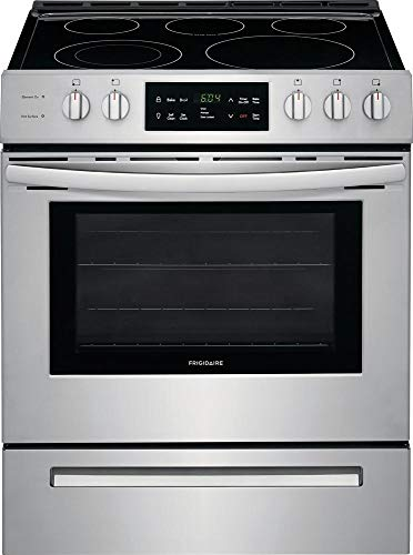 Frigidaire FFEH3054US 30 Inch Freestanding Electric Range with 5 Elements, Smoothtop Cooktop, 5 cu. ft. Primary Oven Capacity, in Stainless Steel