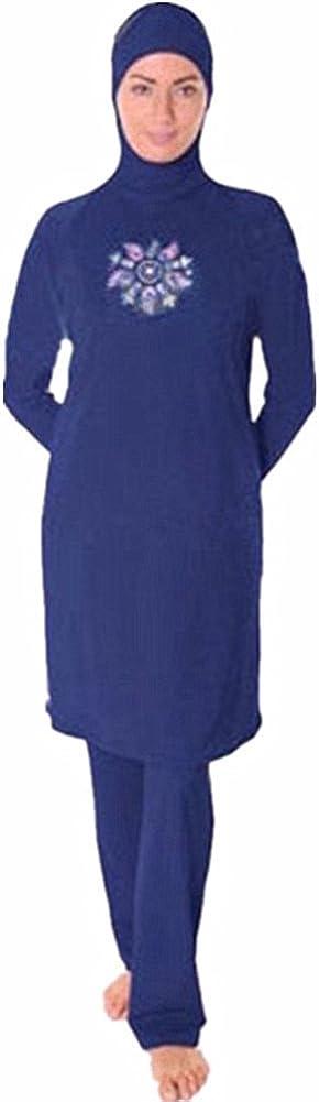 Kurzarm Bescheidene Badebekleidung Set Hijab Druck Surfanzug Schnell Trocknender Badeanzug Elastizit/ät Schwimmen Kost/üm Sonnenschutz Meijunter Islamischer Muslimischer Badeanzug f/ür Frauen