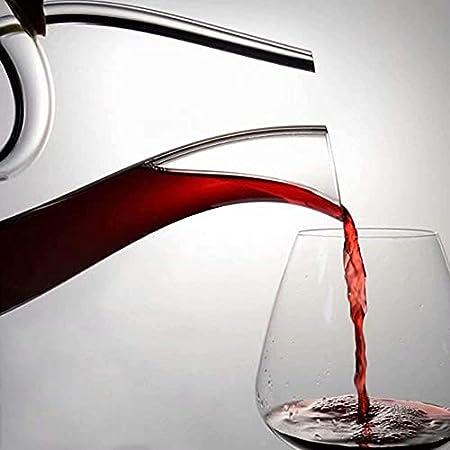 KEKEYANG Decantador Decantador de Whisky Decantador de vinos con Forma Creativa Decantador 100% Cristal de Cristal Vino Decantador de Vino pólder Black Edge 1.5L Decantador de Whisky (Color : 1.5l-b)
