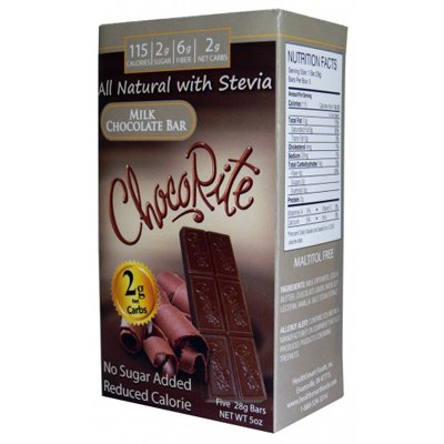 ChocoRite Sugar-Free Milk Chocolate Bar -