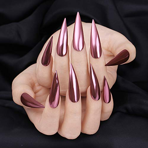 BINNAIL Chrome Nail Art Powder Mirror Effect Glitter Nail Pigment Manicure Powder (Rose Gold)
