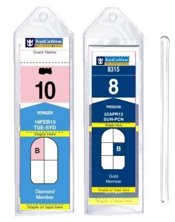 8 Pack of Cruise Ship Luggage Tags (Narrow) with 6