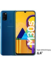"Samsung Galaxy M30s Smartphone 64GB 6.4"" FHD+ Android 9 Pie - Deutsche Version - Blau [Exklusiv bei Amazon]"