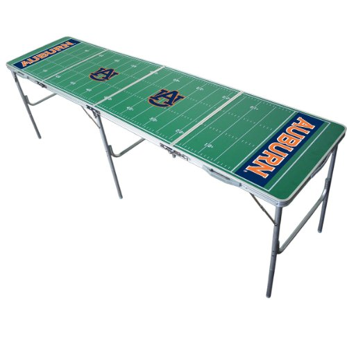 NCAA Auburn Tigers 2-by-8-Foot Tailgate Pong Table with Net