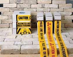 Presco B3103Y16 ''CAUTION'', Yellow, 8/Case
