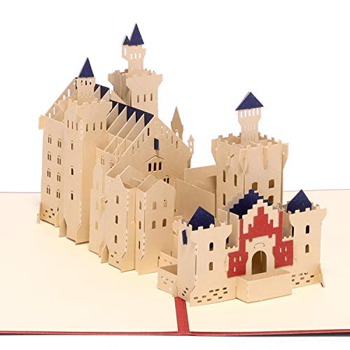 Paper Spiritz Swan Castle Pop up Cards Birthday, 3D Anniversary Thank You Card for Husband Wife, Handmade Graduation Sympathy Blank Card, Laser Cut Gift Card with Envelopes all Occasions]()