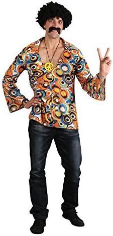 60s 70s Groovy Hippie Shirt - Adulto Traje de disfraces ...