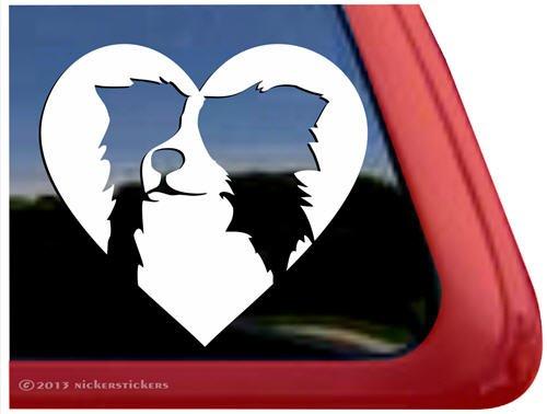 Love Border Collie ~ Vinyl Window Auto Decal Sticker