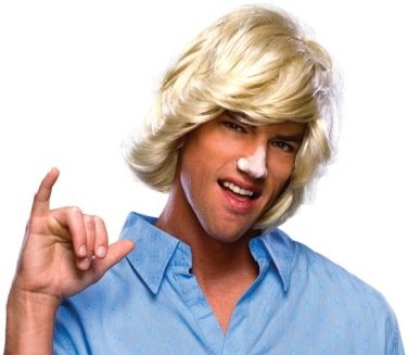 Rubie's Mens Surfer Dude Halloween Party Costume Wig Ivory O/S