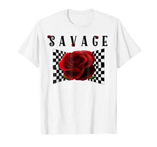 Savage Rose Checkerboard Tee Shirt