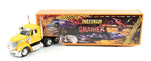 43 Scale Tractor Diecast (International Lonestar Semi Hauler Truck Maximum Smasher NEWRAY Diecast 1:43 Scale 16663)